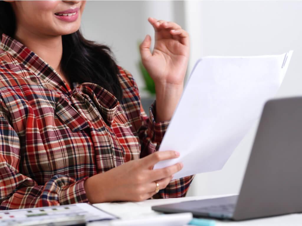 woman working on her academic studies