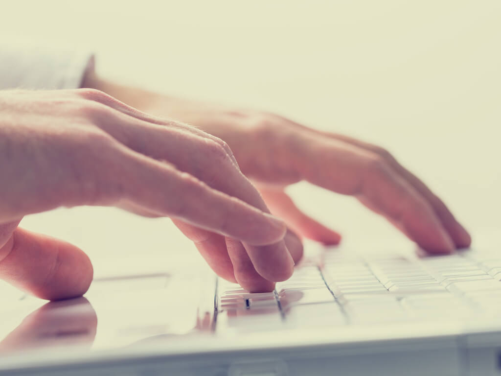 hands on keyboard searching online