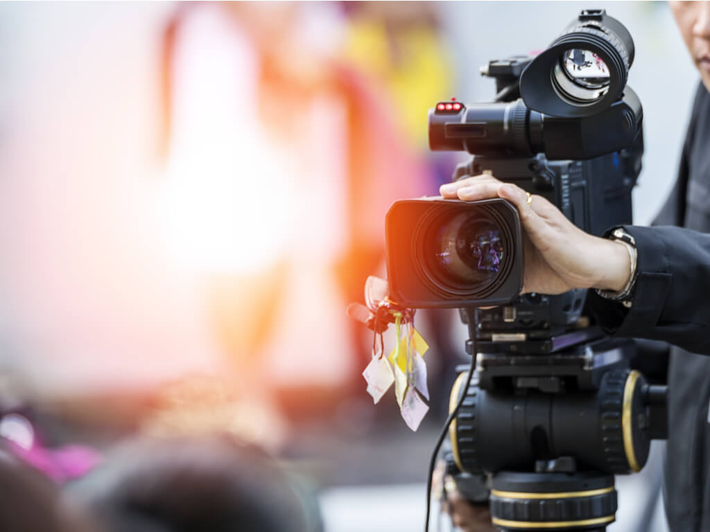 man operating equipment for videos